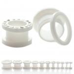 Flesh Tunnel - weiße Kristalle - Kunststoff - Weiß
