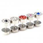 Fake Plug - Stahl - Kristall - Silber