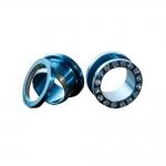Flesh Tunnel - weiße Kristalle - Stahl - Blau