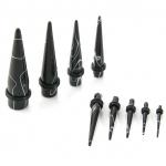 Dehnstab - Marmor - Kunststoff - Schwarz