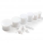 Plug - Double Flared - Kunststoff - Weiß