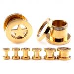 Flesh Tunnel - Stern - Stahl - Gold