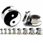 Plug - Yin&Yang - Stahl - Silber