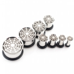 Plug - Spinnennetz mit Gummi - Stahl - Silber