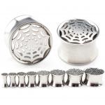 Plug - Spinnennetz - Stahl - Silber