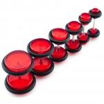 Fake Plug - mit Gummi - Kunststoff - Rot
