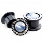 Plug - Perlmutt - Kunststoff - Schwarz