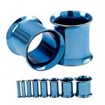 Flesh Tunnel - Double Flared - Stahl - Blau