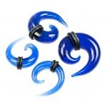 Dehnschnecke - Glas - Blau