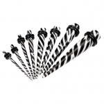 Dehnstab - Kunststoff - Schwarz - Weiß