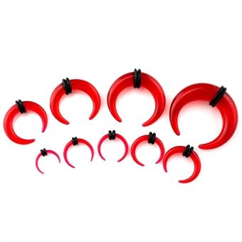 Dehnsichel - Kunststoff - Rot 8,0 mm