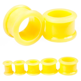 Flesh Tunnel - Silikon - Gelb 14,0 mm