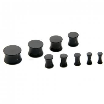 Plug - Double Flared - Kunststoff - Schwarz