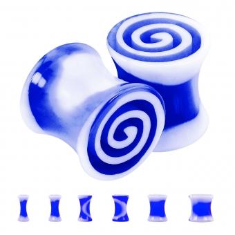 Plug - Spirale - Kunststoff - Blau / Weiß