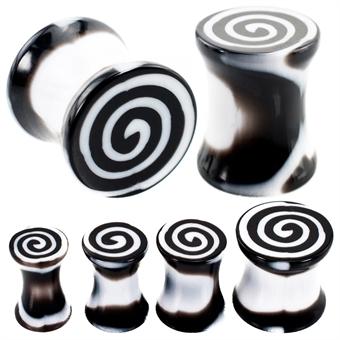 Plug - Spirale - Kunststoff - Schwarz / Weiß