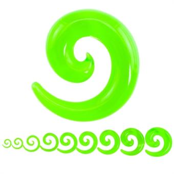 Dehnschnecke - Kunststoff - Grün / Transparent