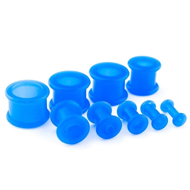 Flesh Tunnel - Silikon - Blau 4,0 mm
