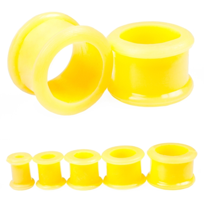 Flesh Tunnel - Silikon - Gelb 8,0 mm