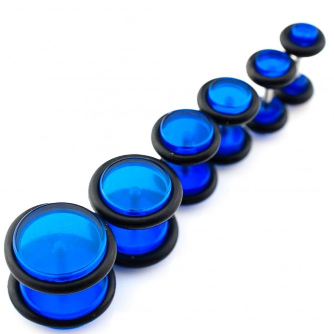 Fake Plug - mit Gummi - Kunststoff - Blau