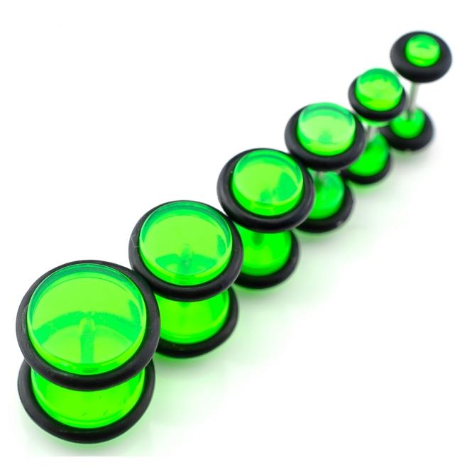 Fake Plug - mit Gummi - Kunststoff - Grün
