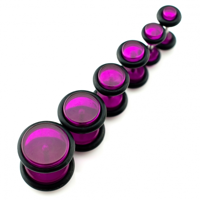 Fake Plug - mit Gummi - Kunststoff - Violett