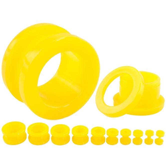 Flesh Tunnel - Kunststoff - Gelb