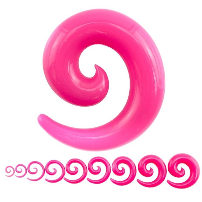 Dehnschnecke - Kunststoff - Pink