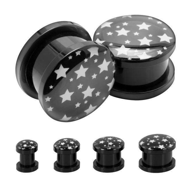 Plug - Sterne - Kunststoff - Schwarz