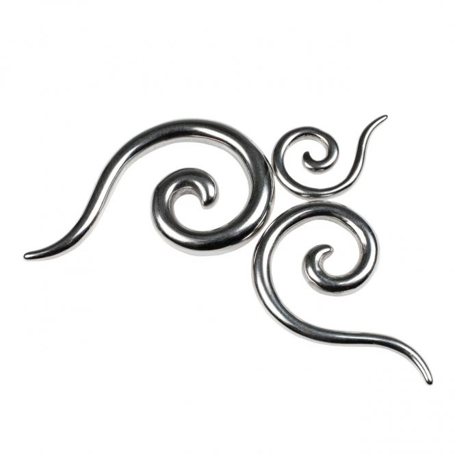 Dehnspirale - Stahl - Silber
