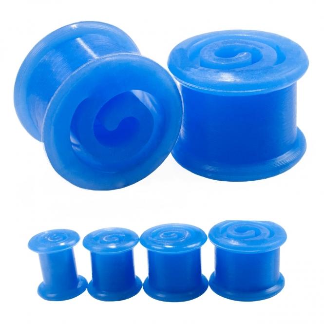 Plug - Spirale - Silikon - Blau