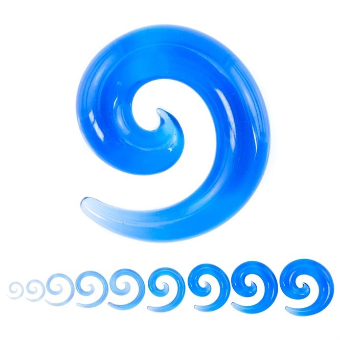 Dehnschnecke - Kunststoff - Blau / Transparent